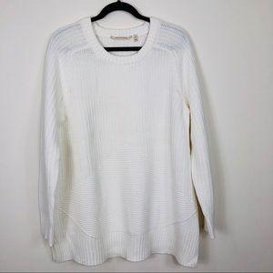 Soft Surronding Cream Scoop Neck Sweater Size XL